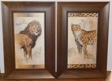 J. Gibson Framed Cheetah and Lion Pictures Prints