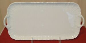 Kaiser Romantica All White Sandwich Tray, Excellent Condition