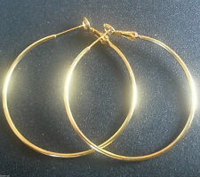 Hoop Yellow Gold Filled Fine Earrings without Stones