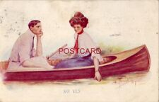 1910 lovers in canoe Say Yes