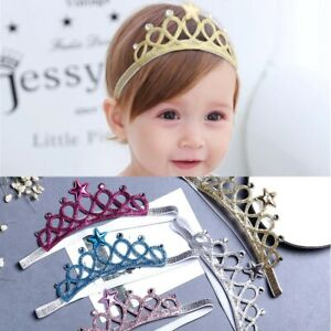 Baby Girl Crown Hairband Toddler Headband Kid Princess Party Costume Headwear