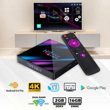Android Smart TV Box H96 Max Ultra HD WIFI 4K Quad Core Netflix Youtube 2GB 16GB