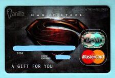 VANILLA Superman Man of Steel 2013 Gift Card ( $0 )