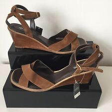 NEXT Size UK 8 Brown Suede Wedge Sandals Shoes NEW READ Listing
