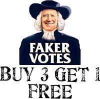 """SLEEPY JOE BIDEN BUMPER STICKER, Faker Votes Biden Bumper Sticker 5"""" X 4"""""""