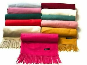 Cashmere Scarf Wool Blend Shawl Ladies Soft Large Thick Warm Luxury Wrap scarves