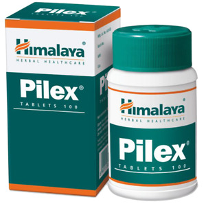 HIMALAYA HERBALS Pilex All Natural Piles Hemorrhoids Support   100 Count Tablets