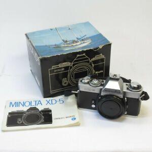 Minolta XD5 SLR Camera Body Vintage 35mm Film in Box w/ Owner's Manual