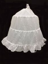 3 Hoop Flower Girls Underskirt For Wedding Crinoline Petticoat w/Steel.7-12 Y .