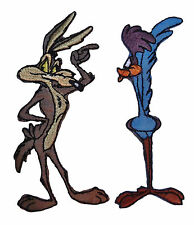 Looney Tunes Coyote and Road Runner Iron-on/Sew-on Embroidered Patch SET