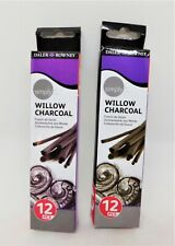 Daler Rowney Simply Willow Artists Sketching Charcoal Sticks Pack 12 Sticks X2