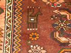 4'x7' Authentic Vintage Handmade Hamedan Mosel wool Oriental area rug Foyer