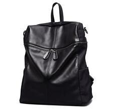womens retro real leather Backpack school travel messenger book handbag Bag