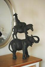 Dschungle Figur Elefant Pferd  Affe und eine Giraffe  H46 cm Stadtmusikanten