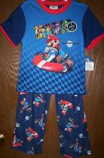 MARIO Kart WII Boy's 3 piece Pajamas size 10 NeW Shirt Pants Shorts Pjs Set NWT