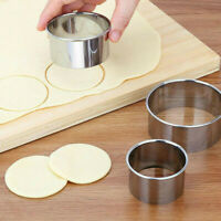 5 Set Round Circle Stainless Steel Cookie Cutter Biscuit For Baking Pastry Mold