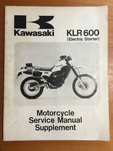 Kawasaki KLR600 Electric Starter Service Manual Supplement 1985 (99924-1063-51)