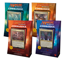 2017 Magic the Gathering MTG Commander Set of 4 Factory Sealed Decks - ENGLISH