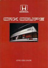 Honda Civic CRX 1.6i-16 1986 UK Market Sales Brochure