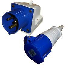 32 Amp 3 Pin 240V Appliance Socket + Coupler 240 Volt 32A IP44 Single phase 2P+E
