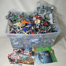 LEGO HUGE LOT 47 LB MIXED STAR WARS BATMAN AVENGERS MINECRAFT PLUS MANUALS