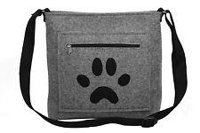 Hund Pfote Tatze Handgefertigt [ extra leicht ] Umhänge Schultertasche Woll Filz