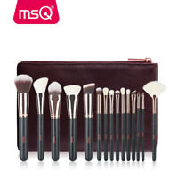 MSQ 15Pcs Pro Makeup Brushes Cosmetic Tool Powder Foundation Make Up Brush Set
