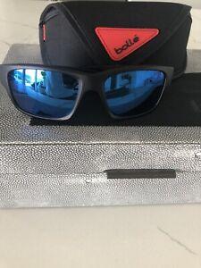 Bolle Holman Floatable 12648 Sunglasses - Matte Black/HD Polarized Offshore Blue
