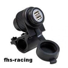 12 V Doppel - USB - Bordsteckdose , Steckdose , Motorrad , Roller , NAVI