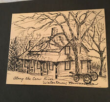 """PEN & INK DRAWING """"ALONG CROW RIVER WATERTOWN MINNESOTA"""" signed art """"Jacquelyn""""?"""