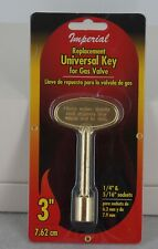 Imperial Universal Key for Gas Valve 3 Inches Fits 1/4 and 5/16 Sockets