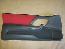 94-95 Camaro Z28 RS SS Door Panel Red Graphite Cloth PW LH 1211-11