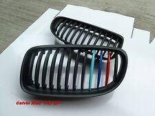 M COLOR MATT BLACK KIDNEY GRILLE M STYLE BM E90 E91 LCI 3 SERIES  2008-2011