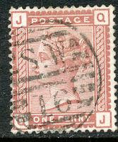 "GB 1880 QV 1D Venetian red (Q') VFU w. LONDON Numeral (Dubus Type 3) ""S.W / 16"""