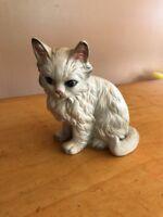 """Lefton White  5"""" Cat Figurine Persian M2"""