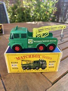 Matchbox King Size, K-12, Heavy Breakdown Wreck Truck