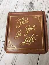 Vintage Leather Photo Album This Is Your Life Box 4 Albums Brown Gene Tierney