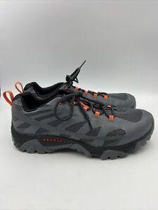 Merrell Mens Moab Edge 2 Gray Black Vibram Hiking Shoes size 10 W , 521