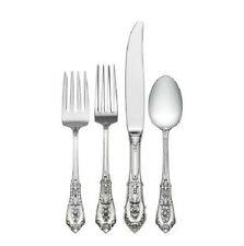 Rose Point by Wallace Sterling Silver Regular Size Place Setting(s) 4pc New