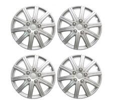 "15"" Wheel Trims Covers Tyre Valve Caps Ties Alloy Look Silver spoke rims type 2"