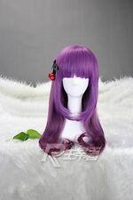 Women Fashion Purple Ombre Curly Hair Cosplay Japanese Lolita Harajuku Full Wigs
