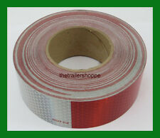 """CONSPICUITY Tape 11"""" Red 7"""" White 2"""" X 15' DOT Approved Reflective Reflector"""