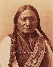SIOUX CHIEF SITTING BULL PHOTO NATIVE AMERICAN INDIAN OLD WEST 1885 #20811