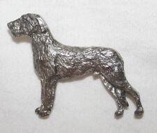 Irish Wolfhound Dog Fine PEWTER PIN Jewelry Art USA Made