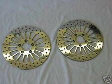 2000'-2014' FLSTS HARLEY HERITAGE SPRINGER 11.5 BRAKE ROTORS W/CHROME BOLTS NEW