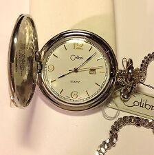 Colibri Silver And Gold Colored Metal Men's Pocket Watch Quartz Movement