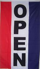 New 3 Feet x 5 Feet Vertical Open Business Sign Banner Flag au