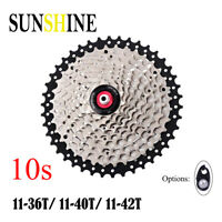 SUNSHINE 10 Speed 11-36T/40T/42T Cassette Flywheels Sprockets for Shimano SRAM