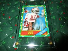 JERRY RICE 1986 TOPPS ROOKIE CARD