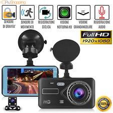 TELECAMERA AUTO FULL HD 1080P 4.0 DVR CAR DASH CAM CON VIDEO CAMERA RETROMARCIA